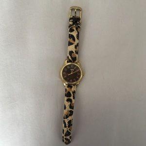 Timex Accessories - Cheetah Leopard Print Brown & Gold Timex Watch